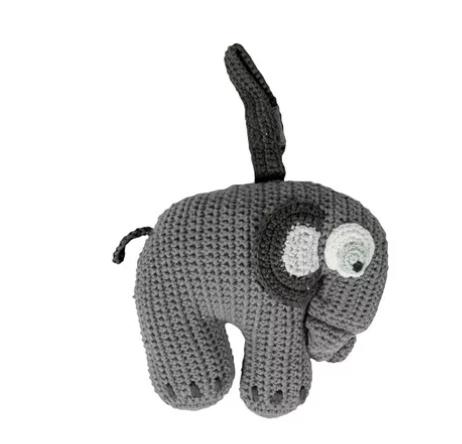 SEBRA Crochet Music Mobile Elephant Grey