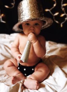 Nyårsafton med bebis.